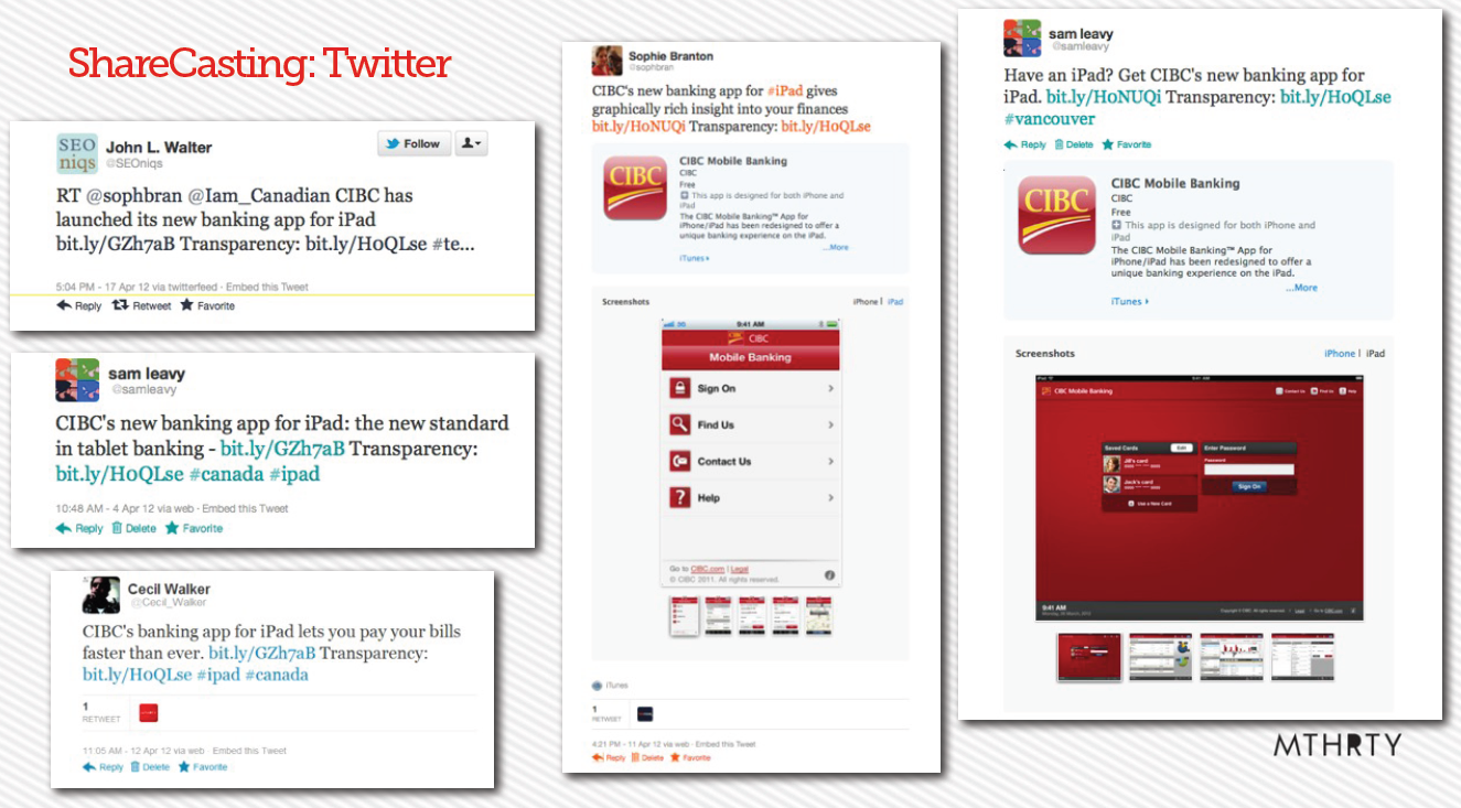 CIBC Twitter examples