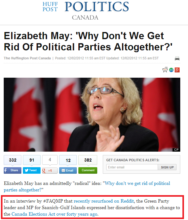Eliz May huff post