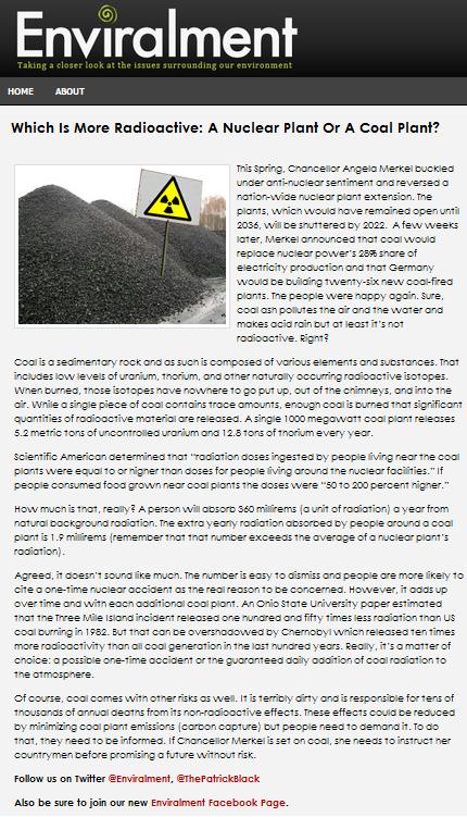Enviralment Radioactive