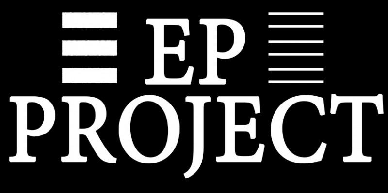 ep project logo white